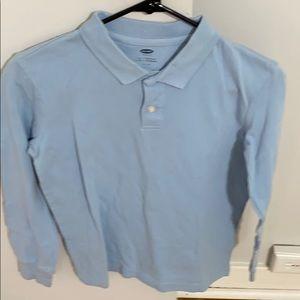 Old Navy Shirt Long Sleeves Light Blue